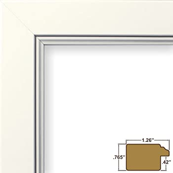 8x17 picture poster frame smooth finish 126 wide white 61999wh