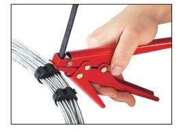 outil de tension et de coupe pour le serre-c/âble Dechengbao bo/îtier en m/étal Outil dattache pour cravate pour attaches ou attaches de c/âbles en nylon largeur de cravate de 0,370 pouces