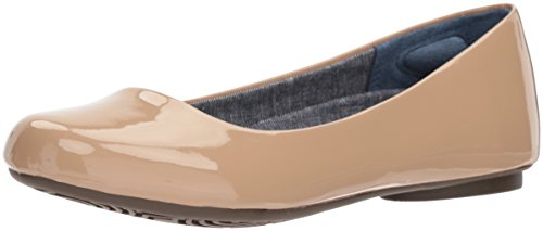 Dr. Scholl's Shoes Women's Friendly2 Ballet Flat, Caravan Sands Patent, 10 M US