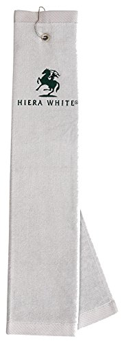 (turkishtowelmarket 100% Original Turkish Cotton Embroidered Velour Tri-Fold Golf Towel, Grey )