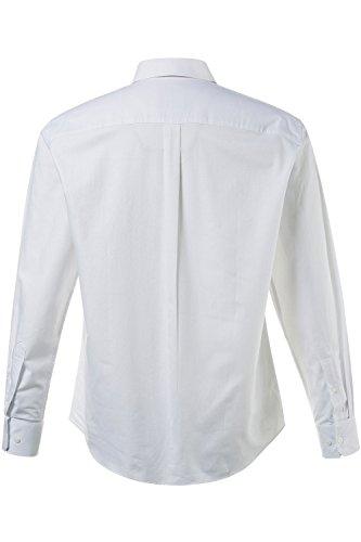 JP 1880 Herren große Größen bis 7 XL | Hemd | Langarm Shirt | Business Mode in weiß & blau | 100 % Baumwolle | Modern Fit | Kentkragen, Knopfleiste & Punktmuster | weiß XL 705599 20-XL