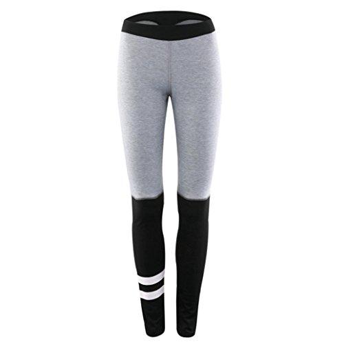 f81c62f6a1009 Oksale® Womens Striped Sports Gym Yoga Workout Mid Waist Running Fitness  Pants Leggings