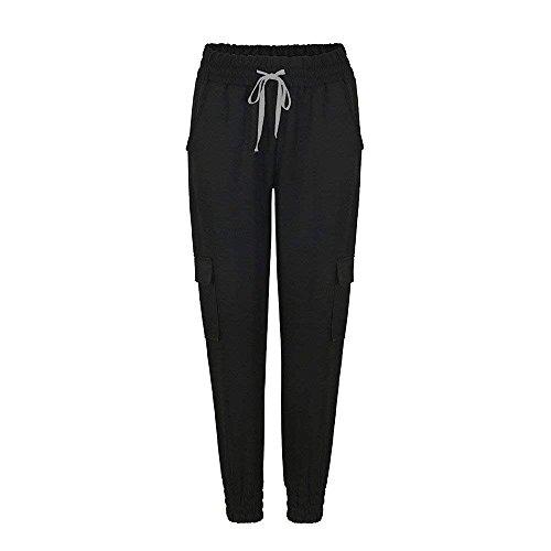 Due Tempo Estivi Tasche Lannister Streetwear Dei Pantaloni Libero Swag Harem Tendenza Nero Pantalone Colore Pants Damigella Puro Casual Lunga 7xZ7wtrOq