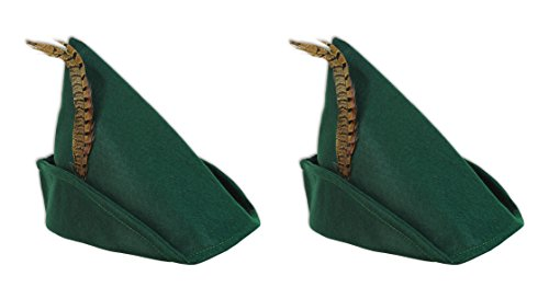 Beistle 60342, 2 Piece Felt Robin Hood Hats, One Size Fits -