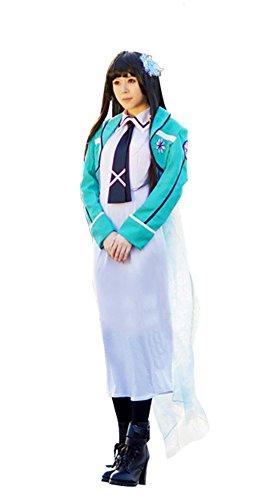 Mtxc Irregular Magic High School Cosplay Costume Miyuki Shiba School Uniform L White - Shiba Miyuki Costume
