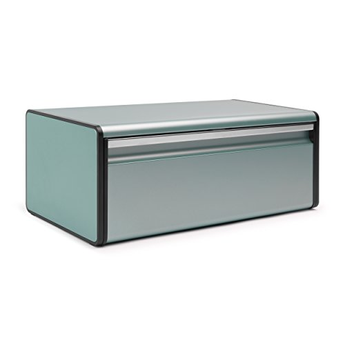 Brabantia Fall Front Bread Bin Metallic Mint Amazon Co Uk