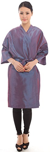 Salon Client Gown Robes Cape, Hair Salon Smock for Clients- Kimono Style (Purple)