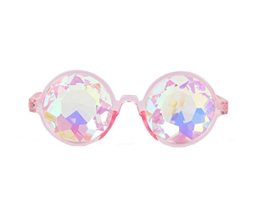 Hallowmas Cosplay Goggles, Best Rave Diffraction Crystal Lenses Kaleidoscopic Prism Glass for Festival, Party, Christmas