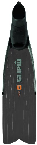 Mares Razor Pro Spearfishing Freediving Long Blade Fins, Black Grey, Size 10/11 (45/46)