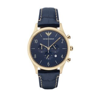 Emporio Armani Men's AR1862 Sport Blue Leather (Emporio Armani Sport Watch)
