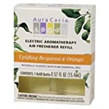 Uplifting Bergamot and Orange Electric Aromatherapy Air Freshener Refill by Aura Cacia – 3 Pack / .52 oz, Health Care Stuffs