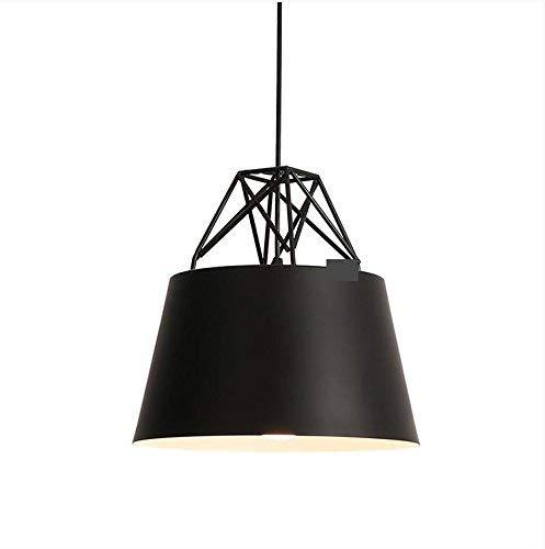 19-Yiruculture Post Chandelier Modern Led Chandelier Aluminum Lacquer Lamp (Color : Matte Black 300290mm)