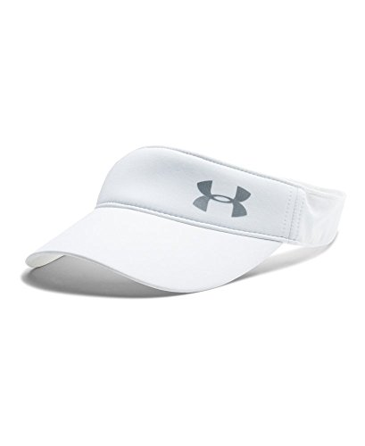 Under Armour Women's Fly Fast Visor, White/Silver, One Size