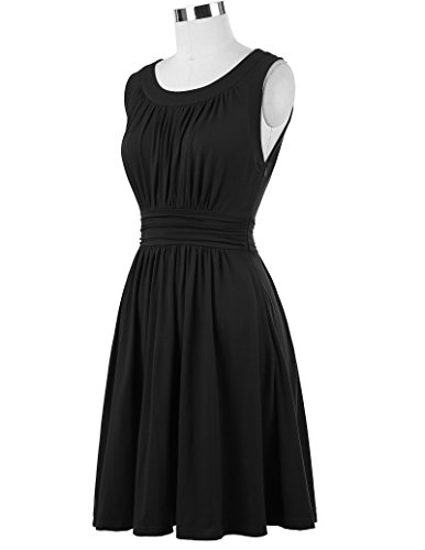 Belle Poque Sleeveless A-Line Women's 1950s Vintage Dress Cocktail Dress
