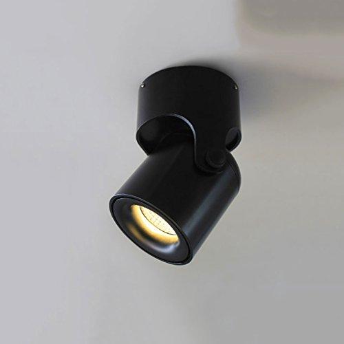 WSXXN LED 3W Aviación de Aluminio 180 ° Ajustable Blanco y Negro Moderna Sala de estar Minimalista TV Fondo Pared Bar...