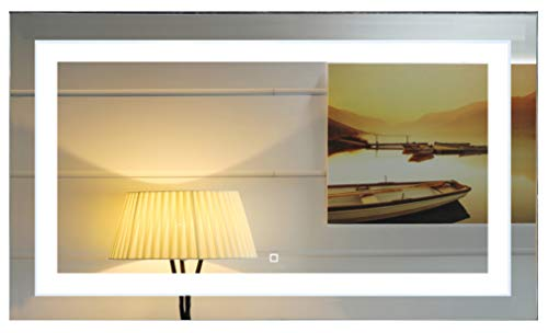 48X28 Inch Wall Mounted Led Lighted Bathroom Mirror with Touch Switch(GS099-4828R) (48x28 -