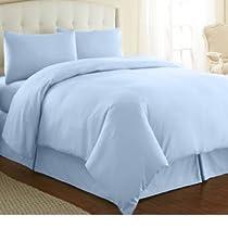 Casa Copenhagen Exotic Collection 800 Thread-Count Egyptian Cotton 3 pieces Queen Duvet Cover Set, Ocean Blue