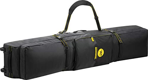 (Rossignol Soul Roller Board & Gear Wheeled Ski Bag Black/Yellow Sz 200)