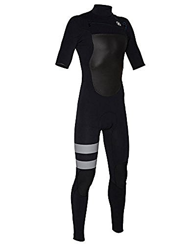 Hurley MFS0000130 Mens Fusion 202 Short Sleeve Wetsuit,Black,LT