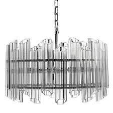 (Decomust 22 Inch Crystal Pendant Light Chandelier Plated Nickel Ceiling Light Fixture)