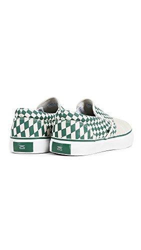 Slip Da Uomo Di Tempo Libero Slip On Sneakers Green Check Trip