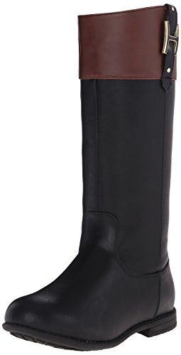 Tommy Hilfiger Kids Andrea H Charm Riding Boot ,Black,9 M US
