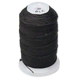 - Simply Silk Beading Thread Size D Black 0.012 Inch 0.34mm Spool 260 Yards for Stringing Weaving Knotting