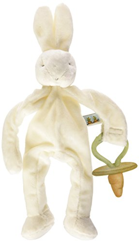 Boca Bay (Bunnies by the Bay Silly Buddy Bunny, White with Pacifier Holder)