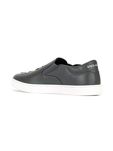 Dolce & Gabbana Men's CS1365AG3118D760 Black Leather Slip On Sneakers sale newest buy cheap explore buy cheap pick a best WeOiS