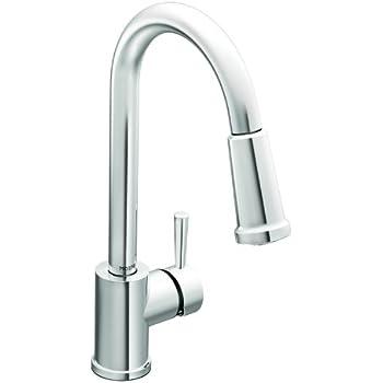 Moen 7175 Level One-Handle High Arc Pullout Kitchen Faucet, Chrome