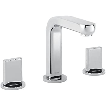 Hansgrohe 31063001 Metris S Widespread Faucet Full Chrome Touch On Bathroom Sink Faucets
