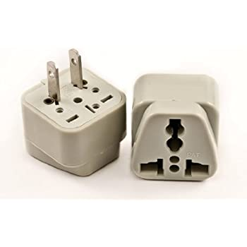 Amazon Com India To Usa Iou 2f Plug Adapter Non Grounded Acucraft Usa Plug Home Audio Amp Theater