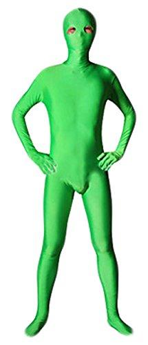 Seeksmile Unisex Green Open Eye Lycra Zentai Suit (Kids Small, Green)