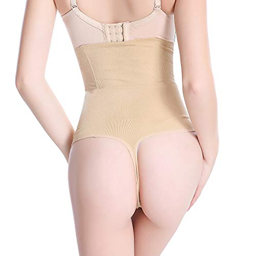 HelloHia-adult-exotic-corsets Women High Waist Panty Brief Body Shaper Tummy Control Belt Underwear Belly Girdle Slimming,Beige,3XL