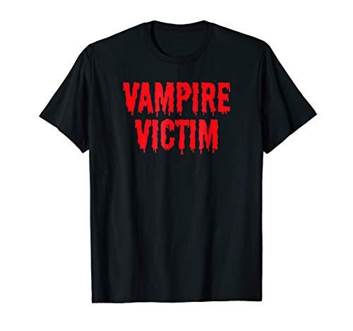 Vampire Victim Halloween Costume Lazy T-Shirt Disguise ()