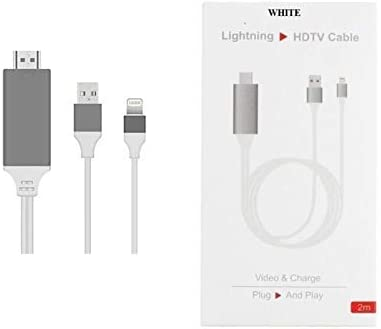 8 Pin Lightning to HDMI HDTV AV Cable Adapter for iPhone 7plus iPhone 6S Plus 6