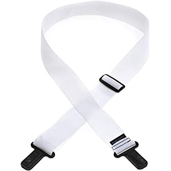 LM Products Surelock Nylon Guitar Strap White