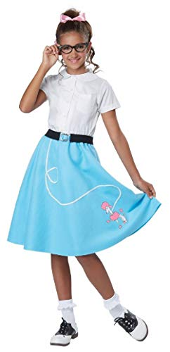 50S Poodle Skirt Girls Child Costume - Blue