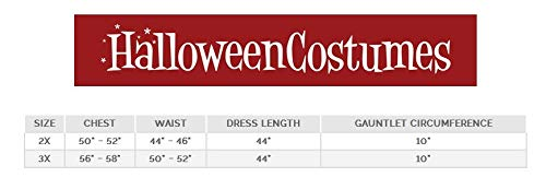 Deluxe Womens Plus Size Long Dress Wonder Woman Costume 2X -