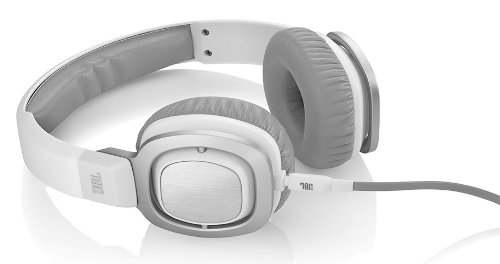 JBL J55 High-Performance On-Ear Headphones with JBL Drivers and Rotatable Ear-Cups - White