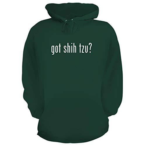 Shih tzu? - Graphic Hoodie Sweatshirt, Forest, XXX-Large ()