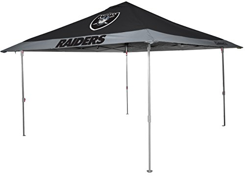 NFL Oakland Raiders Unisex 07561072111NFL 10x10 Eaved Canopy (All Team Option), Black, X-Large
