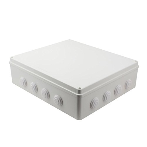 YXQ 400mmx350mmx120mm IP65 Waterproof Junction Box Electric Project DIY Case Power Outdoor Enclosure with Hole(15.7'' x 13.8'' x 4.7'')