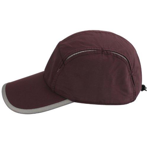 Reddish brown Women's Adjustable Beach Floppy Sun Hat