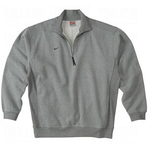 NIKE Men's Premier 1/2 Zip Heather Grey (Nike Premier Fleece Hoody)