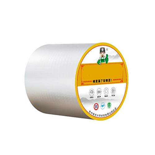 Gaoxingbianlidian001 Butyl Rubber Waterproof Tape, Cracks On The Roof Cracks Sunshine Room Color Steel Tile Self-Adhesive Coils Roof Waterproof Trapping Materials Waterproof Traps 20cmx10m,Not Easy t
