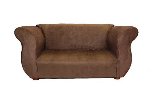 KEET Fancy Kid's Sofa, Brown (Matching Chairs Club)