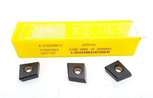 Kennametal 4.21503R611 Hartmetall-Einsätze KCPK30 Frässpitzen #MK2, 3 Stück