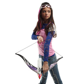 Experience real bow action with the Nerf Rebelle Heartbreaker Bow.