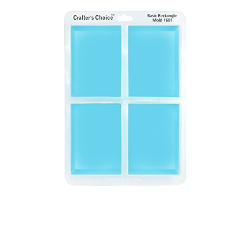 (Silicone Soap Mold, GLOSSY Basic Rectangle 1601)